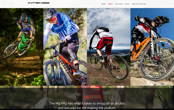 Intense Cycles USA - The Creative Bar Case Study - Website Design