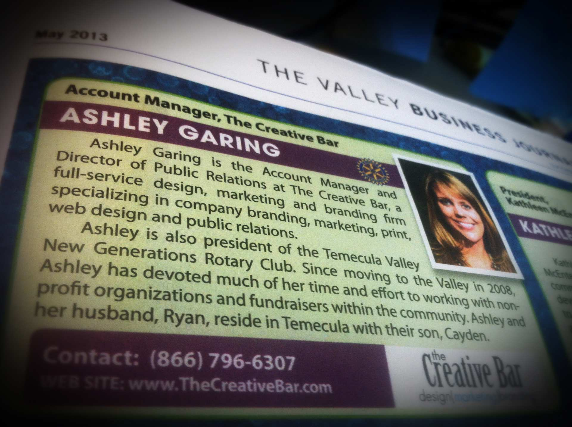 Ashley Garing Valley Business Journel