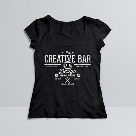 The Creative Bar Womens Old Fashioned Shirt, Front View
