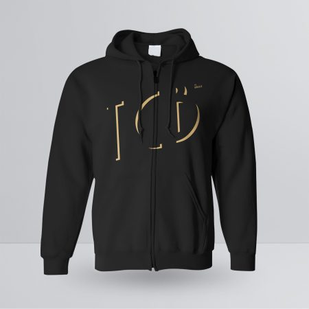 The Creative Bar Mens Manhattan Zip-up Hoodie, Front View