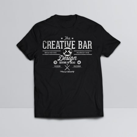 The Creative Bar Mens Old Fashioned Shirt, Front View