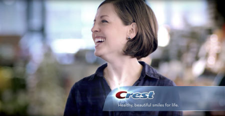 Healthy, beautiful smiles for life. Crest HD advertising campaign circa 2017, Procter & Gamble.