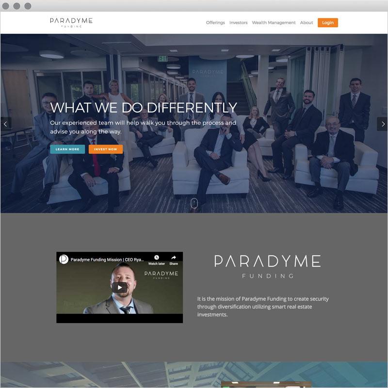 Paradyme Funding - Website