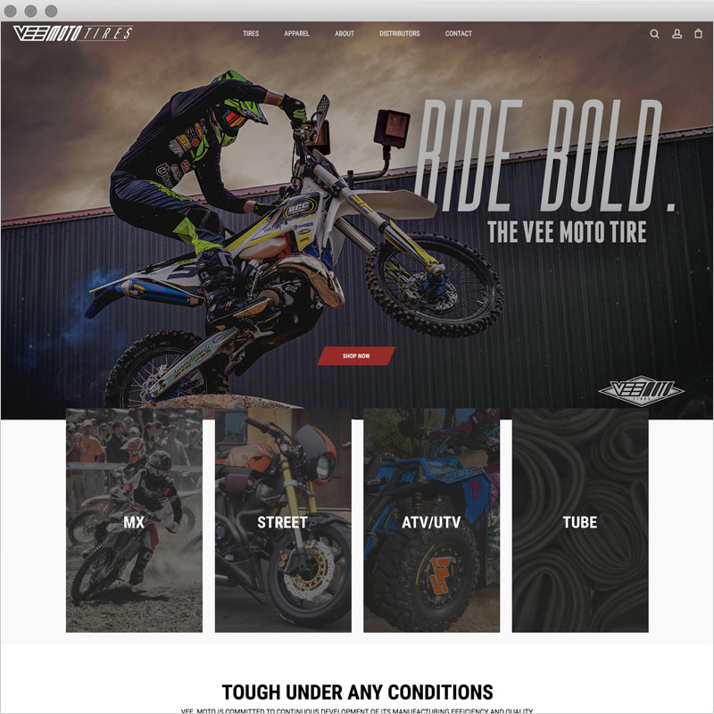Vee Moto Tires - Website