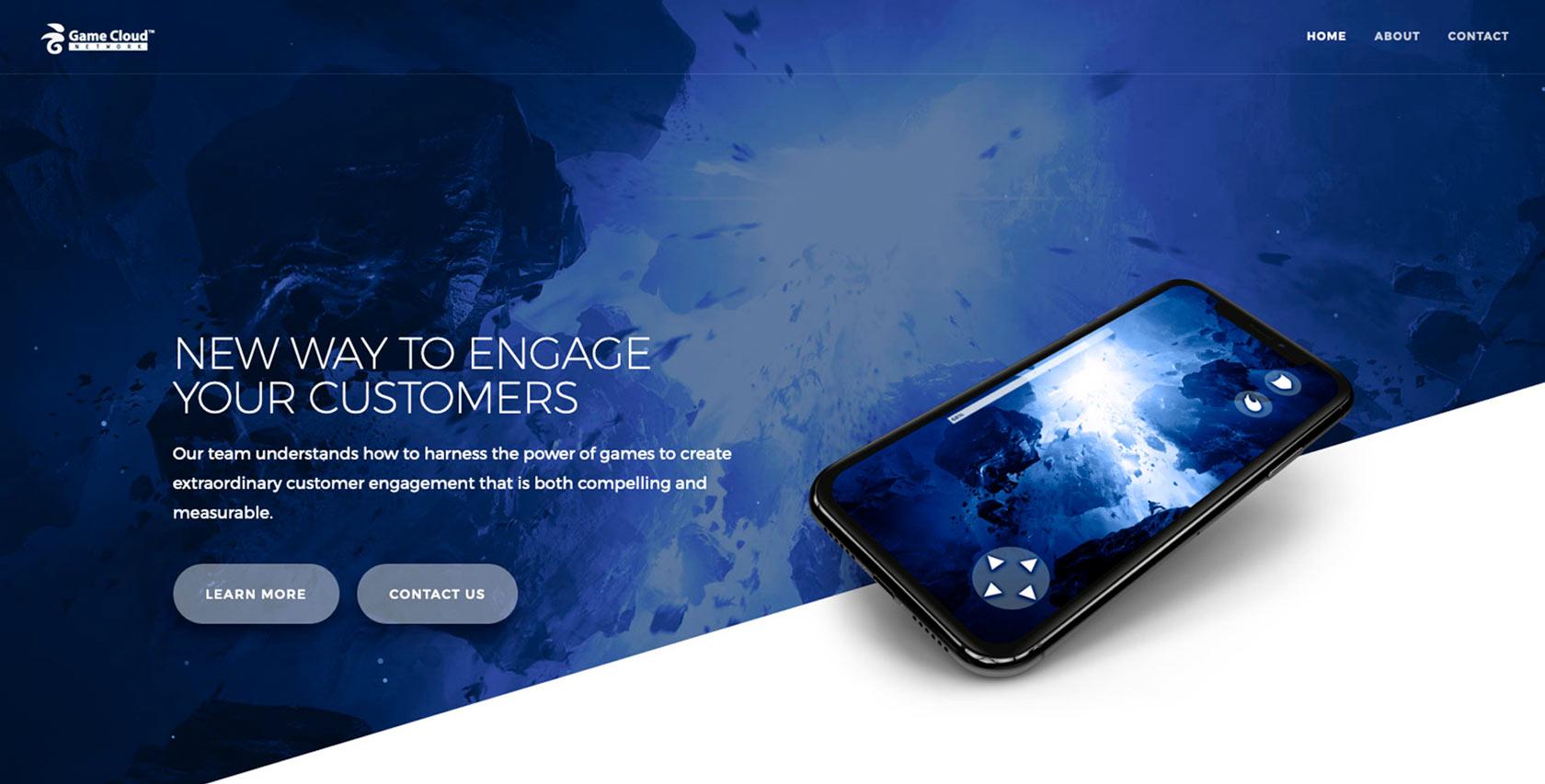 Game Cloud Network - Website Design