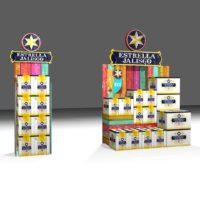 3D Mockup of Two Estrella Jalisco POCM displays