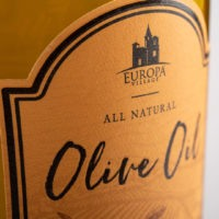Europa Village Olive Oil Label Closeup