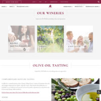 Europa Village Website Example, Our Wineries Page