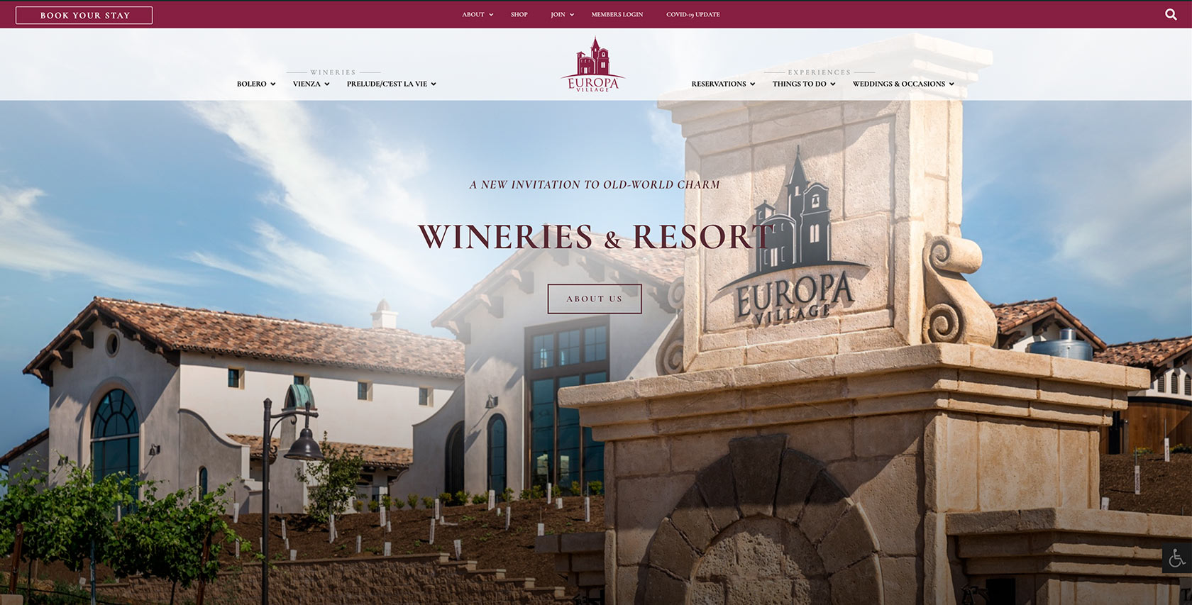 Europa Village - Graphic Design, Website Design